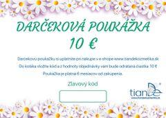 Darčeková poukážka 10 €